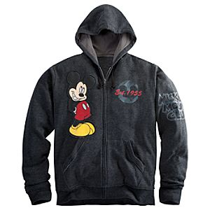 Zip Fleece The Mickey Mouse Club Mickey Mouse Hoodie for Men -- Plus Size