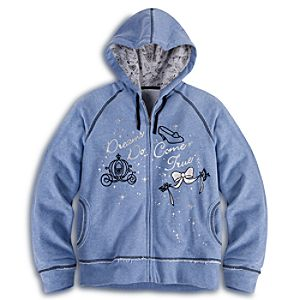 Cinderella Zip Fleece Hoodie for Women
