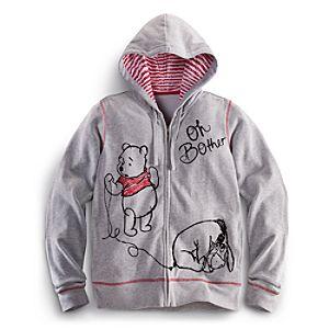 Zip Fleece Winnie the Pooh Hoodie for Women