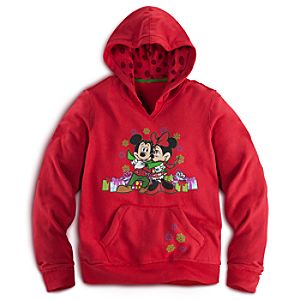 Holiday Mickey and Minnie Mouse Hoodie for Women