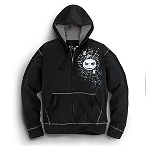 Zip Fleece Jack Skellington Hoodie for Men -- Plus Size