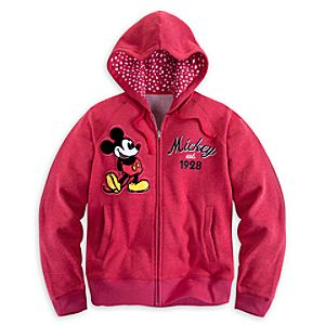 Mickey Mouse Hoodie for Women - Red