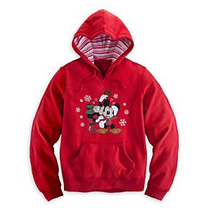 Minnie and Mickey Mouse Holiday Hoodie for Women
