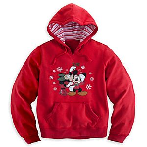Minnie and Mickey Mouse Holiday Hoodie for Women - Plus Size