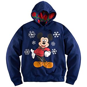 Mickey Mouse Holiday Hoodie for Men - Plus Size