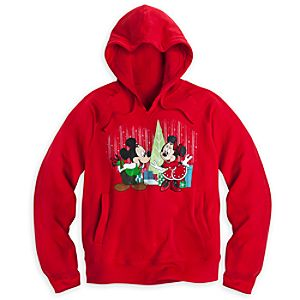 Mickey and Minnie Mouse Hoodie for Women - Holiday
