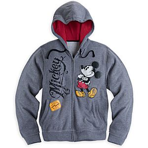 Mickey Mouse Hoodie for Men - Plus Size