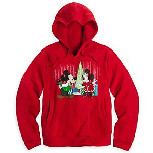 Mickey and Minnie Mouse Hoodie for Women - Holiday - Plus Size