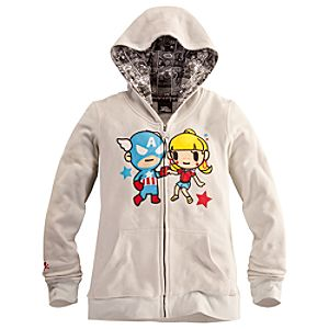 Captain America Hoodie for Women by Tokidoki
