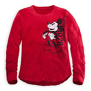 Long Sleeve Thermal Mickey Mouse Tee for Men