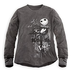 Long Sleeve Thermal Jack Skellington Tee for Men