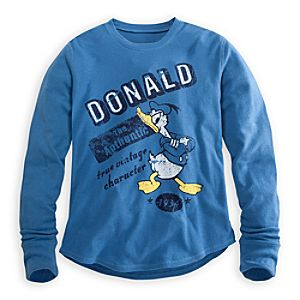 Long Sleeve Thermal Donald Duck Tee for Men