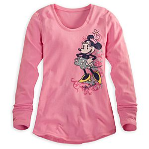 Minnie Mouse Thermal Tee for Women