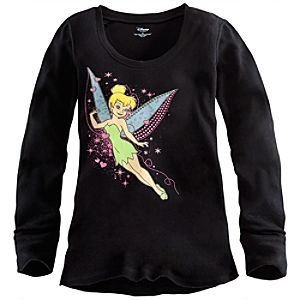 Long Sleeve Thermal Tinker Bell Tee for Women