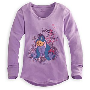 Long Sleeve Thermal Eeyore Tee for Women