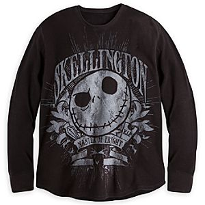 Jack Skellington Long Sleeve Thermal Tee for Men