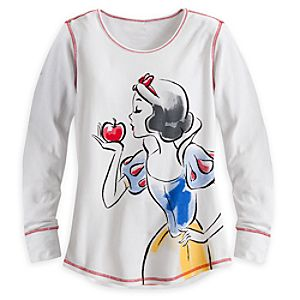 Snow White Long Sleeve Thermal Tee for Women