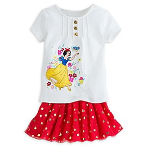 Snow White Skirt Set for Girls