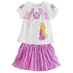 Rapunzel Top and Skort Set for Girls