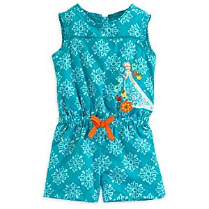 Elsa Woven Romper for Girls