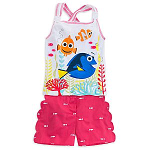 Finding Dory Tank and Short Set for Girls