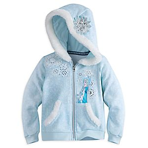 Elsa Zip Hoodie for Girls