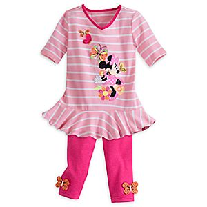 Minnie Mouse Clubhouse Top and Pants Set for Girls