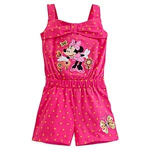 Minnie Mouse Clubhouse Knit Romper for Girls