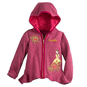 Belle Zip Hoodie for Girls - Personalizable