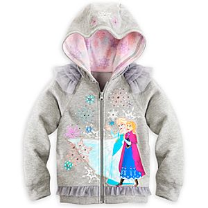 Anna and Elsa Hoodie for Girls