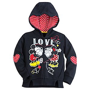 Mickey and Minnie Mouse Hoodie for Girls - I Love Mickey Collection