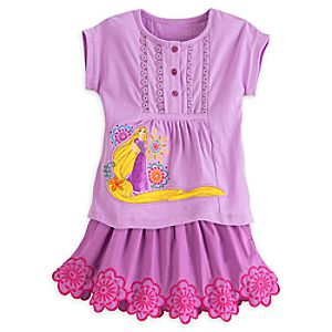 Rapunzel Skirt Set for Girls