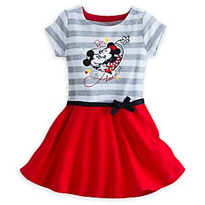 Mickey and Minnie Mouse Dress for Girls - I Love Mickey Collection