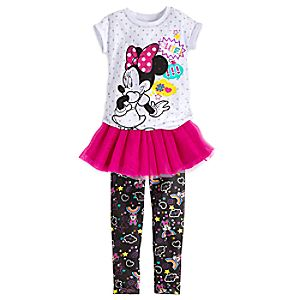 Minnie Mouse Clubhouse Tee, Skirt, and Leggings Set for Girls