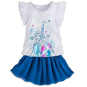 Anna and Elsa Frozen Skirt Set for Girls