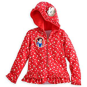 Snow White Fleece Hoodie for Girls