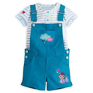 Doc McStuffins Overall Short Set for Girls