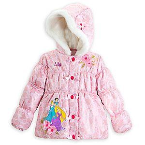 Disney Princess Winter Jacket for Girls - Personalizable