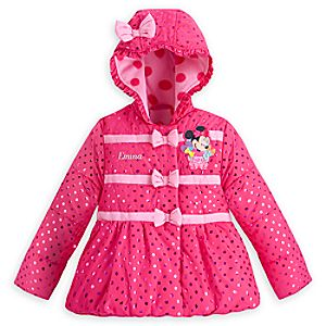 Minnie Mouse Clubhouse Winter Jacket for Girls - Personalizable