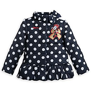 Minnie Mouse Puffy Jacket for Girls - Personalizable