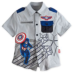 Captain America Shirt for Boys