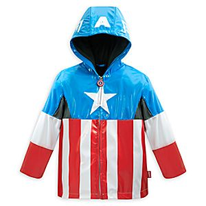 Captain America Rain Jacket for Boys