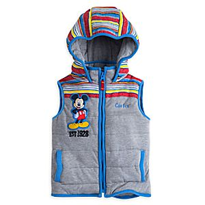 Mickey Mouse Hooded Vest for Boys - Personalizable