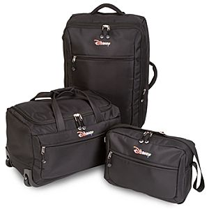 Rolling Disney Luggage Set -- Black 3-Pc.