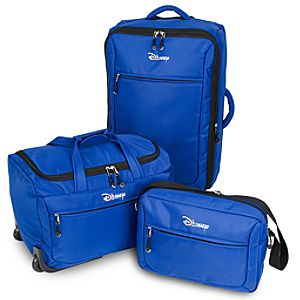 Rolling Disney Luggage Set -- Blue 3-Pc.