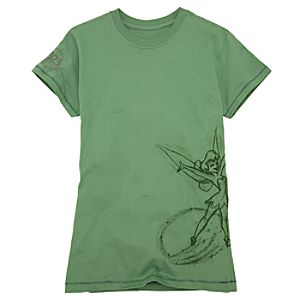 D23 Membership Exclusive Wrap Around Tinker Bell Tee for Women