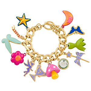 Gold-Plated Tinker Bell Charm Bracelet for Women