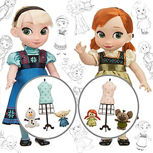 Disney Animators Collection Anna and Elsa Dolls Deluxe Gift Set - 16''
