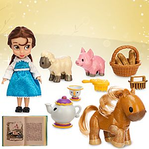 Disney Animators Collection Belle Mini Doll Play Set - 5