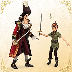 Peter Pan and Captain Hook Doll Set - Disney Fairytale Designer Collection